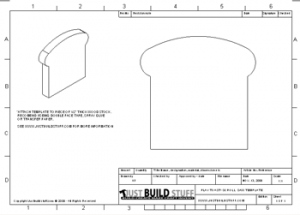 Template to Cut a piece of Bread/Toast from Scrap Wood