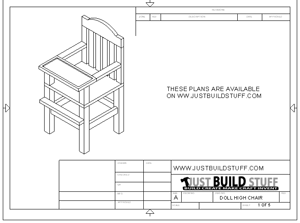 doll high chair plans