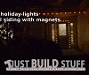 Attach Holiday Lights to Steel Siding with Magnets